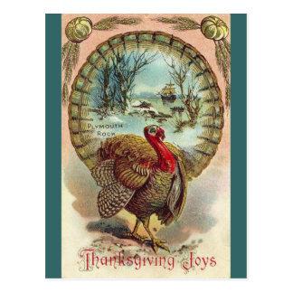 Vintage Thanksgiving Turkey-Postcard Postcard