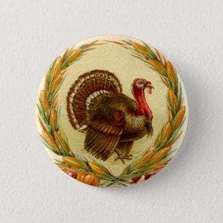 Vintage Thanksgiving Turkey Round Button