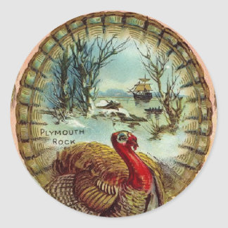 Vintage Thanksgiving Turkey Small Sticker