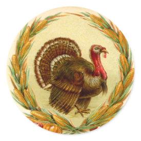 Vintage Thanksgiving Turkey Sticker
