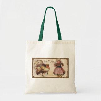 Vintage Thanksgiving Turkey Tote Bag