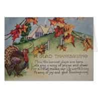 Vintage Thanksgiving - Turkey & Verse Card