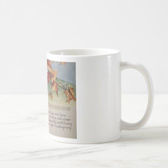 Vintage Thanksgiving - Turkey & Verse Coffee Mug