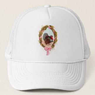 Vintage Thanksgiving Turkey Wreath Trucker Hat
