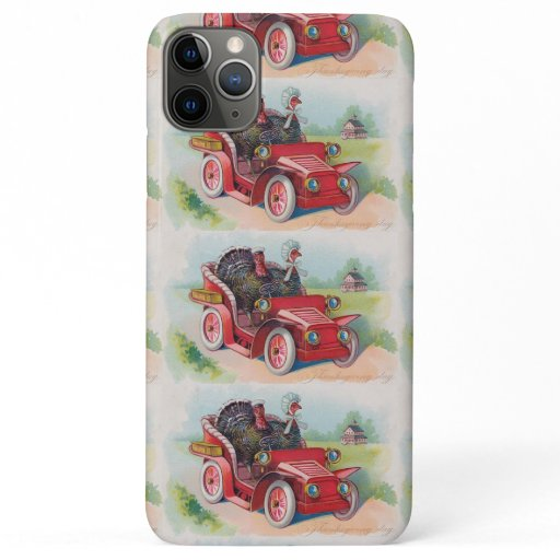 Vintage Thanksgiving Turkeys In A Car iPhone 11 Pro Max Case