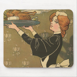 Vintage Thanksgiving Victorian Turkey Mouse Pad