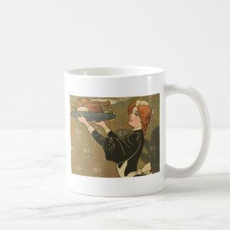 Vintage Thanksgiving Victorian Turkey Coffee Mugs