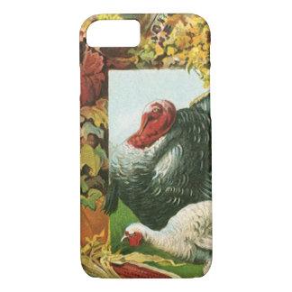 Vintage Thanksgiving, Wild Turkeys Autumn Colors iPhone 7 Case
