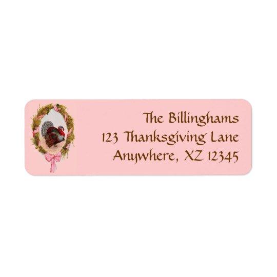 Vintage Thanksgiving Wreath Label