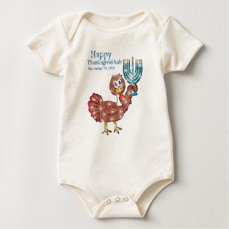 Vintage Thanksgivukkah.png feliz Trajes De Bebé