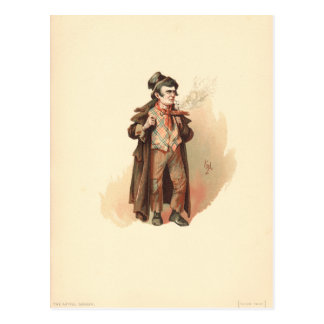 Vintage The Artful Dodger Oliver Twist Postcard