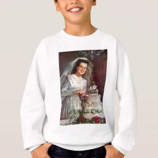 Vintage The Beautiful Bride and Her Wedding Cake Sweatshirt