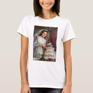Vintage The Beautiful Bride and Her Wedding Cake T-Shirt