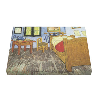 Vintage The Bedroom 1889 3D Wrapped Canvas