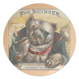 Vintage The Bouncer Dog Plate