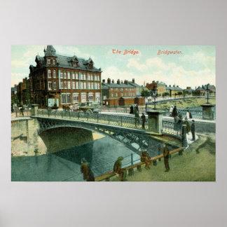 Vintage the Bridge Bridgwater Poster
