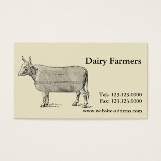 Vintage The Cow Welfare blanket Business cards