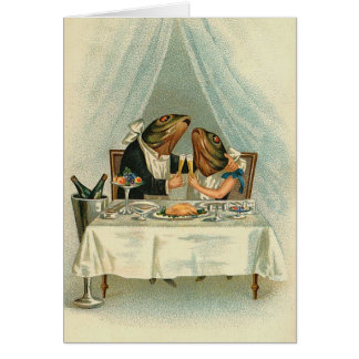 Vintage - The Dining Fish Couple Card