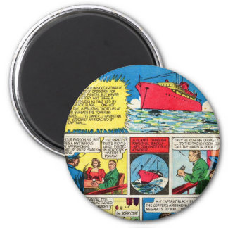 Vintage The Flame Comic Book Superhero Villains 2 Inch Round Magnet