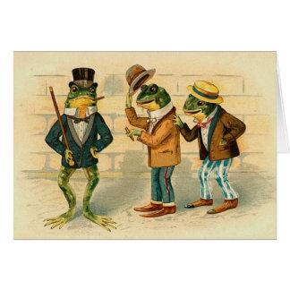 Vintage - The Frog Friends Card