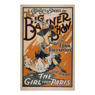 Vintage The Girl From Paris Poster