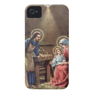 vintage the holy family, Jesus christ, Josef,Mary iPhone 4 Case