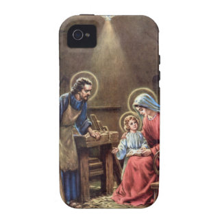 vintage the holy family, Jesus christ, Josef,Mary Case-Mate iPhone 4 Cases