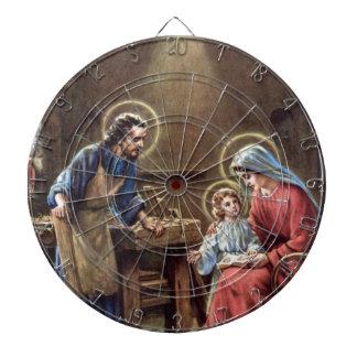 vintage the holy family, Jesus christ, Josef,Mary Dart Board