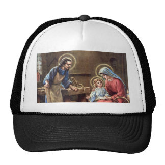 vintage the holy family, Jesus christ, Josef,Mary Trucker Hats