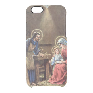vintage the holy family, Jesus christ, Josef,Mary, Uncommon Clearly™ Deflector iPhone 6 Case