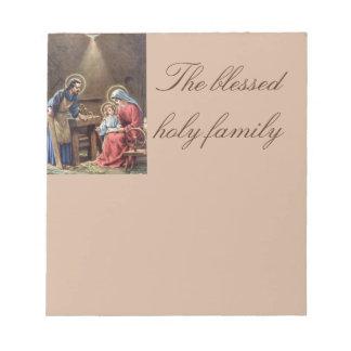 vintage the holy family, Jesus christ, Josef,Mary, Memo Pad