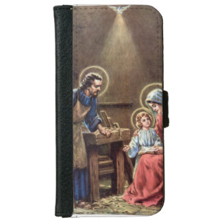 vintage the holy family, Jesus christ, Josef,Mary, iPhone 6 Wallet Case