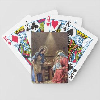 vintage the holy family, Jesus christ, Josef,Mary Bicycle Playing Cards