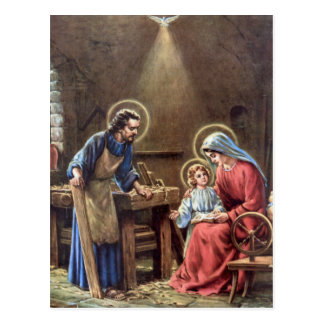 vintage the holy family, Jesus christ, Josef,Mary Post Cards