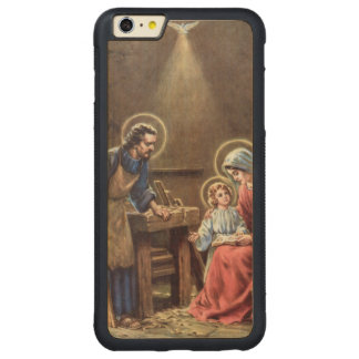 vintage the holy family, Jesus christ, Josef,Mary, Carved® Maple iPhone 6 Plus Bumper