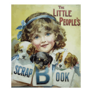 Vintage The Little People's scrap book cover Poster