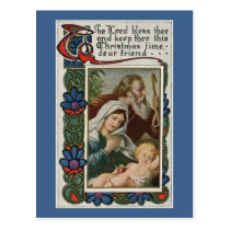 vintage The Lord bless thee Postcard