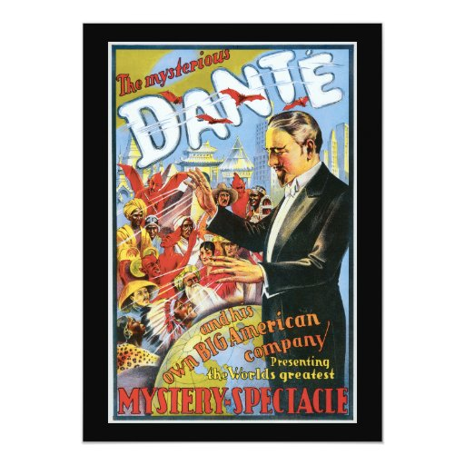 Vintage The Mysterious Dante Poster Card
