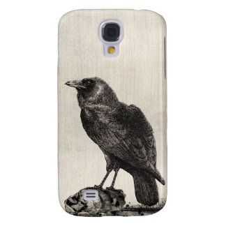 Vintage The Raven Gothic Horror Style Illustration Galaxy S4 Case