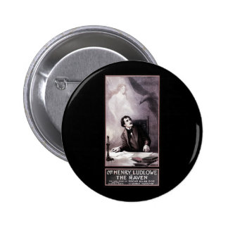 Vintage The Raven Theatrical 2 Inch Round Button
