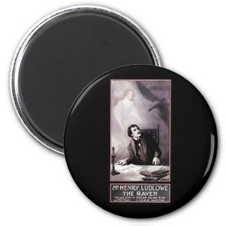 Vintage The Raven Theatrical 2 Inch Round Magnet