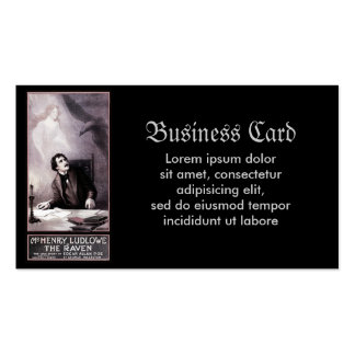Vintage The Raven Theatrical Double-Sided Standard Business Cards (Pack Of 100)