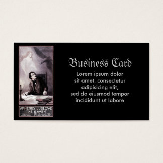 Vintage The Raven Theatrical Business Card