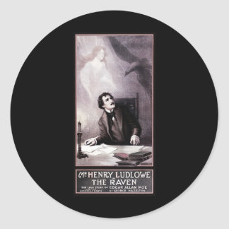 Vintage The Raven Theatrical Classic Round Sticker