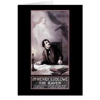 Vintage The Raven Theatrical Greeting Card