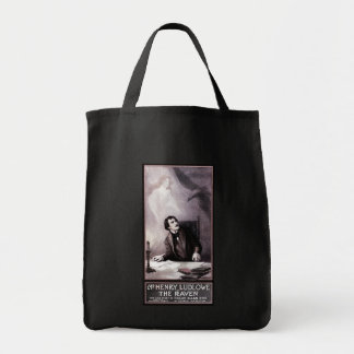 Vintage The Raven Theatrical Grocery Tote Bag