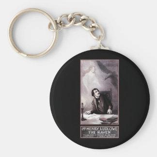 Vintage The Raven Theatrical Basic Round Button Keychain