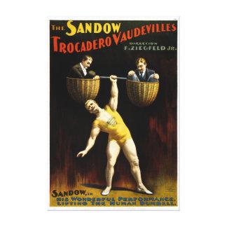 Vintage The Sandow Trocadero Vaudevilles Canvas Print