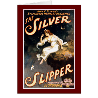 Vintage The Silver Slipper, Theatrical Poster Card