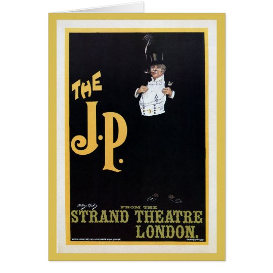 Vintage The Strand London The J.P. theatre play ad Card
